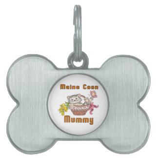 Maine Coon Cat Mom Pet Name Tag