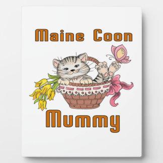 Maine Coon Cat Mom Plaque