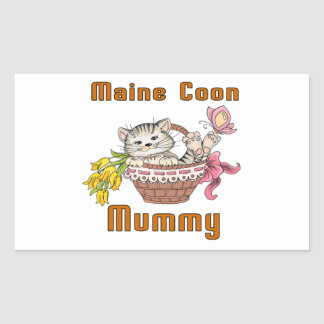 Maine Coon Cat Mom Sticker