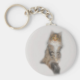 Maine Coon Cat - Patched Keychain