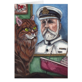 MAINE COON CAT  Titanic Note Card