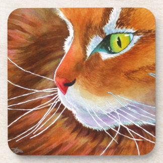 Maine Coon Cat Whiskers Drink Coaster
