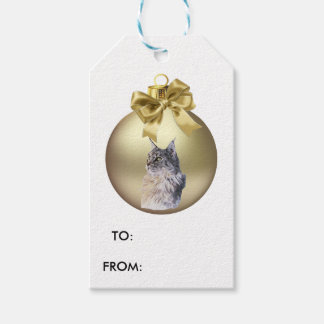 Maine Coon Cate Pack Of Gift Tags