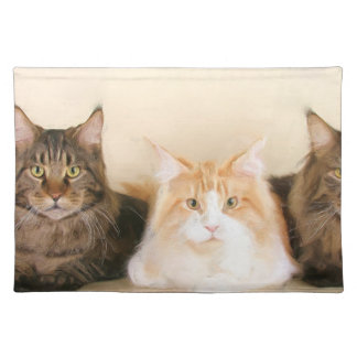 Maine Coon Cats Placemat