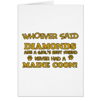 Maine coon designs card