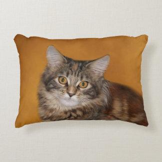 Maine Coon kitten face Accent Pillow