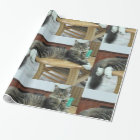 maine coon laying 2 wrapping paper