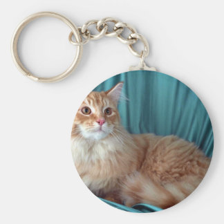 Maine Coon, red tabby Keychain