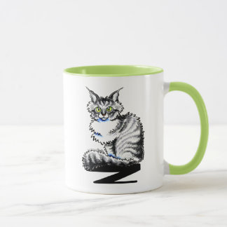Maine Coon Tabby Cat Off-Leash Art™ Mug
