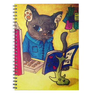 Maine Coon Writer Cat by Acrylic Cats Notebooks
