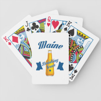 Maine Drinking team Bicycle Playing Cards