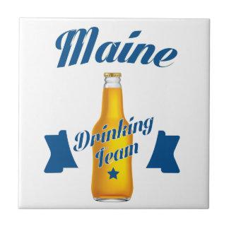 Maine Drinking team Ceramic Tile
