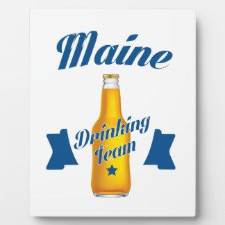 Maine Drinking team Plaque