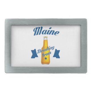 Maine Drinking team Rectangular Belt Buckle