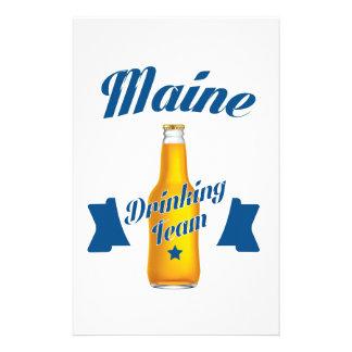 Maine Drinking team Stationery