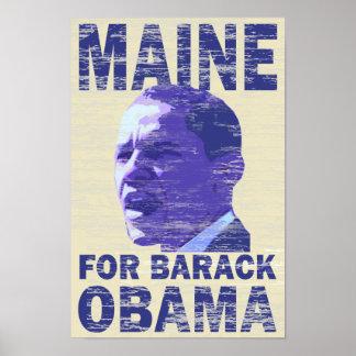 Maine for Barack Obama Poster