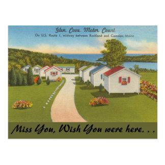 Maine, Glen Cove Motor Court, Camden Postcard
