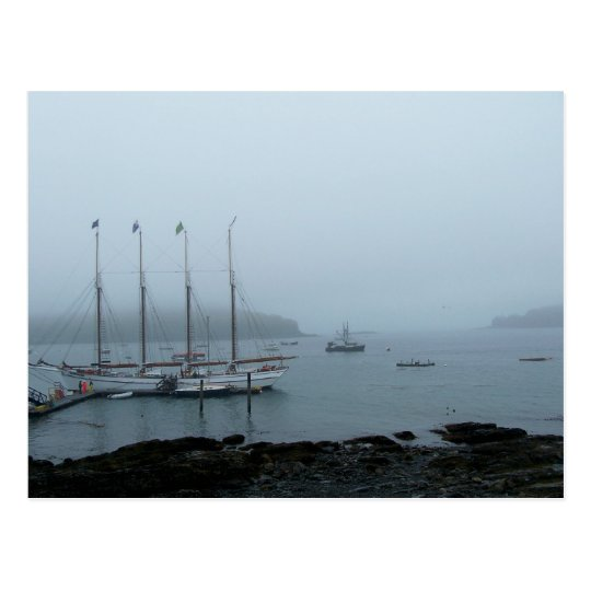 Maine Harbour Postcard