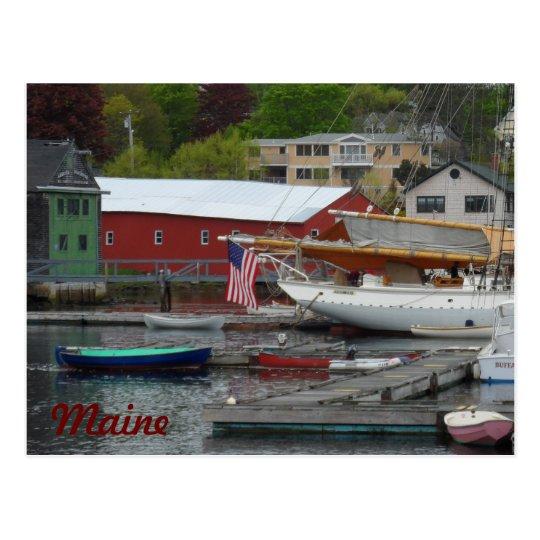 Maine Harbour Postcard