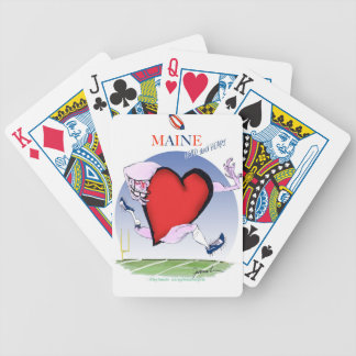 maine head heart, tony fernandes bicycle playing cards