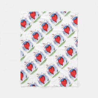 maine head heart, tony fernandes fleece blanket