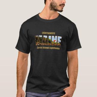 MAINE Image Text Series - Curtis Island Lighthouse T-Shirt