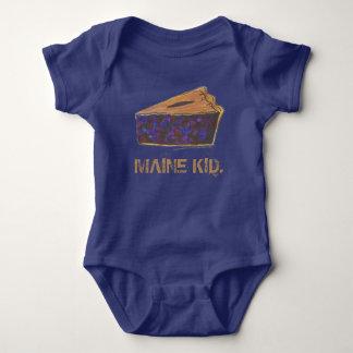 MAINE KID Portland Blueberries Blueberry Pie Slice Baby Bodysuit