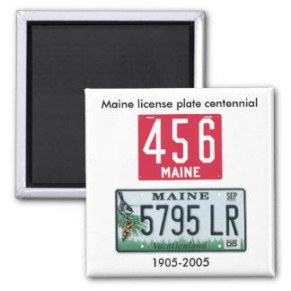 Maine license plate centennial magnet