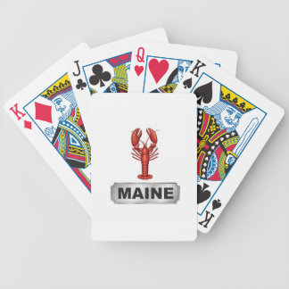Maine lobster bicycle playing cards