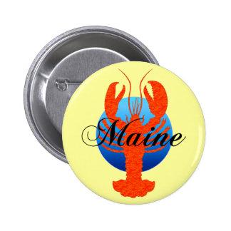 Maine lobster 2 inch round button