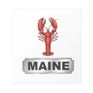 Maine lobster notepad