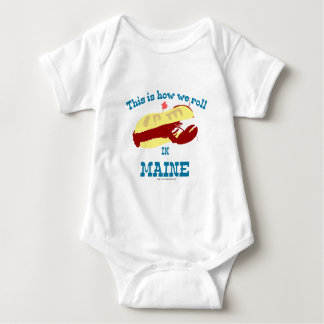 Maine Lobster Roll Baby Bodysuit