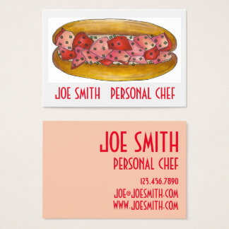 Maine Lobster Roll Sandwich Chef Business Cards