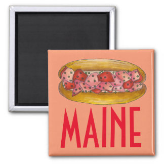 Maine Lobster Roll Sandwich Seafood Foodie Magnet
