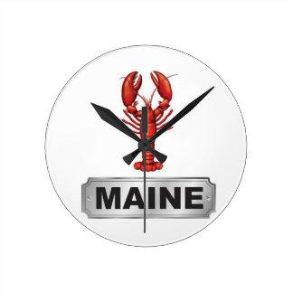 Maine lobster round clock