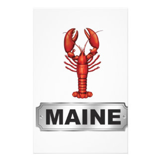 Maine lobster stationery