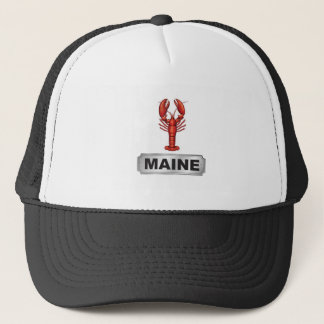 Maine lobster trucker hat