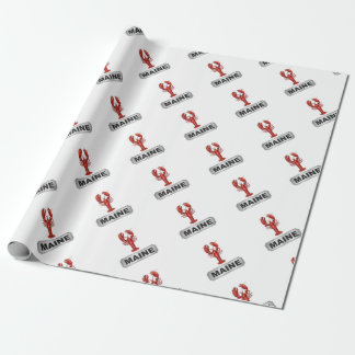 Maine lobster wrapping paper
