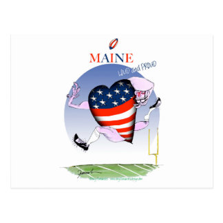 maine loud and proud, tony fernandes postcard
