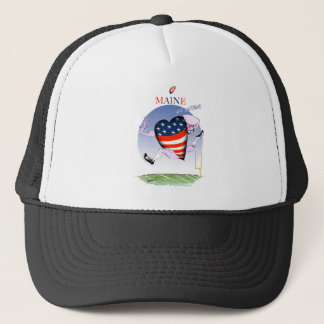 maine loud and proud, tony fernandes trucker hat