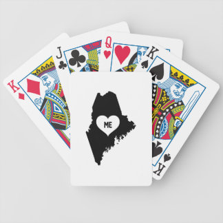 Maine Love Bicycle Playing Cards