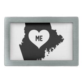 Maine Love Rectangular Belt Buckle