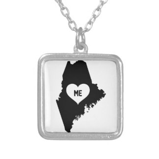 Maine Love Silver Plated Necklace