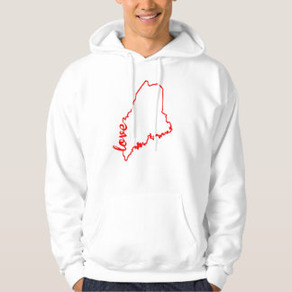 Maine Love State Silhouette Hoodie