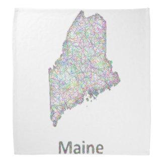 Maine map bandana