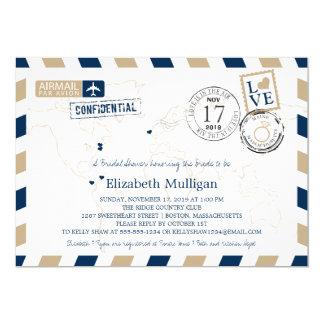 Maine + Massachusetts Airmail | Bridal Shower Card