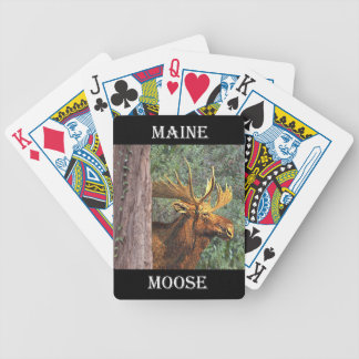 Maine Moose Bicycle Playing Cards