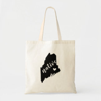Maine Native State Tote Bag