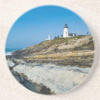 Maine, Pemaquid Point, Pemaquid Point Lighthouse Drink Coaster