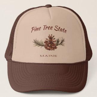 Maine Pine Cone Trucker Hat